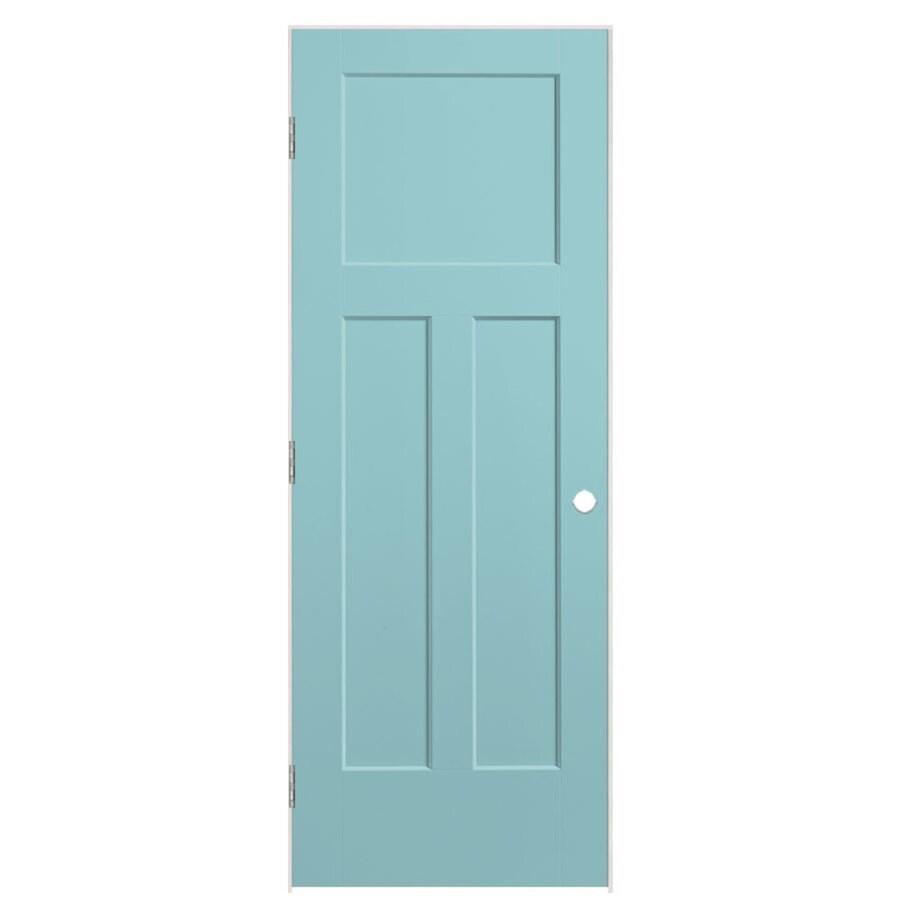 Masonite Expo Sea Mist Prehung Hollow Core 3-Panel Craftsman Interior Door (Common: 32-in x 80-in; Actual: 33.5-in x 81.5-in)