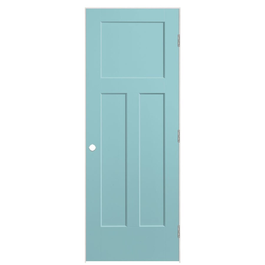 Masonite Expo Sea Mist Prehung Hollow Core 3-Panel Craftsman Interior Door (Common: 32-in x 80-in; Actual: 33.5-in x 81.5-in)