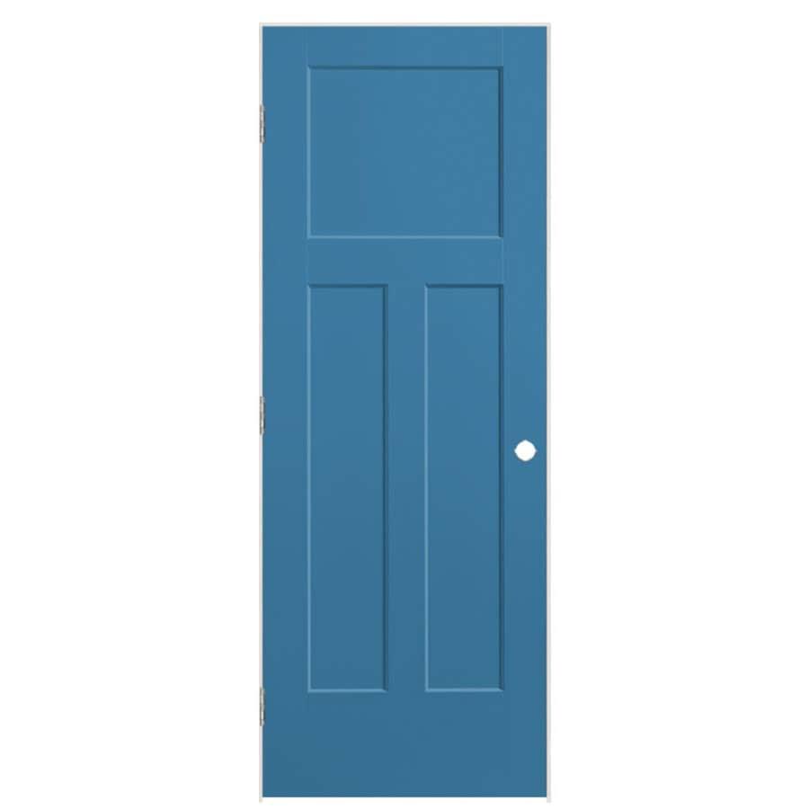 Masonite Expo Blue Heron Prehung Hollow Core 3-Panel Craftsman Interior Door (Common: 28-in x 80-in; Actual: 29.5-in x 81.5-in)