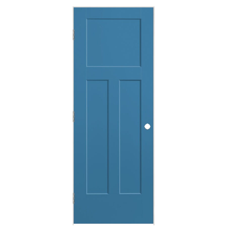 Masonite Expo Blue Heron Prehung Hollow Core 3-Panel Craftsman Interior Door (Common: 30-in x 80-in; Actual: 31.5-in x 81.5-in)