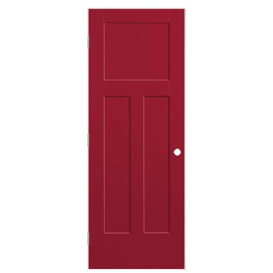 Masonite Expo Barn Red Prehung Hollow Core 3-Panel Craftsman Interior Door (Common: 30-in x 80-in; Actual: 31.5-in x 81.5-in)