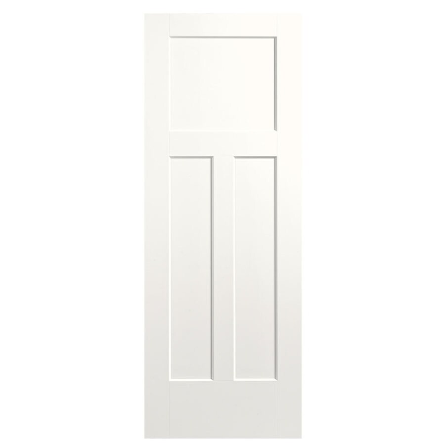 Masonite Expo Snow Storm Hollow Core 3-Panel Craftsman Slab Interior Door (Common: 24-in x 80-in; Actual: 25.5-in x 81.5-in)