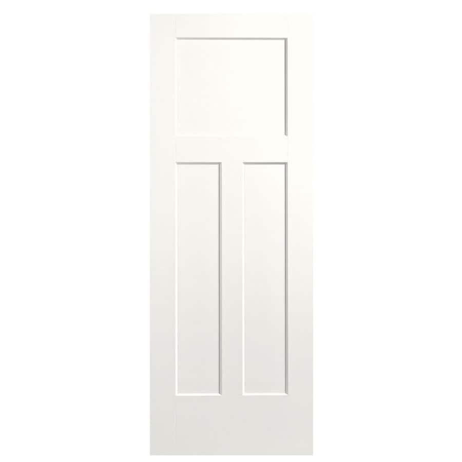 Masonite Expo Snow Storm Hollow Core 3-Panel Craftsman Slab Interior Door (Common: 28-in x 80-in; Actual: 29.5-in x 81.5-in)