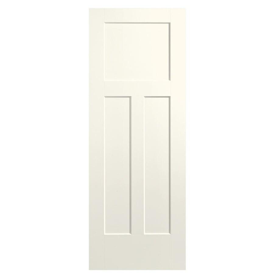 Masonite Expo Moonglow Hollow Core 3-Panel Craftsman Slab Interior Door (Common: 30-in x 80-in; Actual: 31.5-in x 81.5-in)