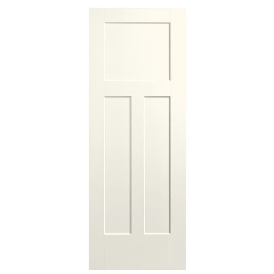 Masonite Expo Moonglow Hollow Core 3-Panel Craftsman Slab Interior Door (Common: 36-in x 80-in; Actual: 37.5-in x 81.5-in)