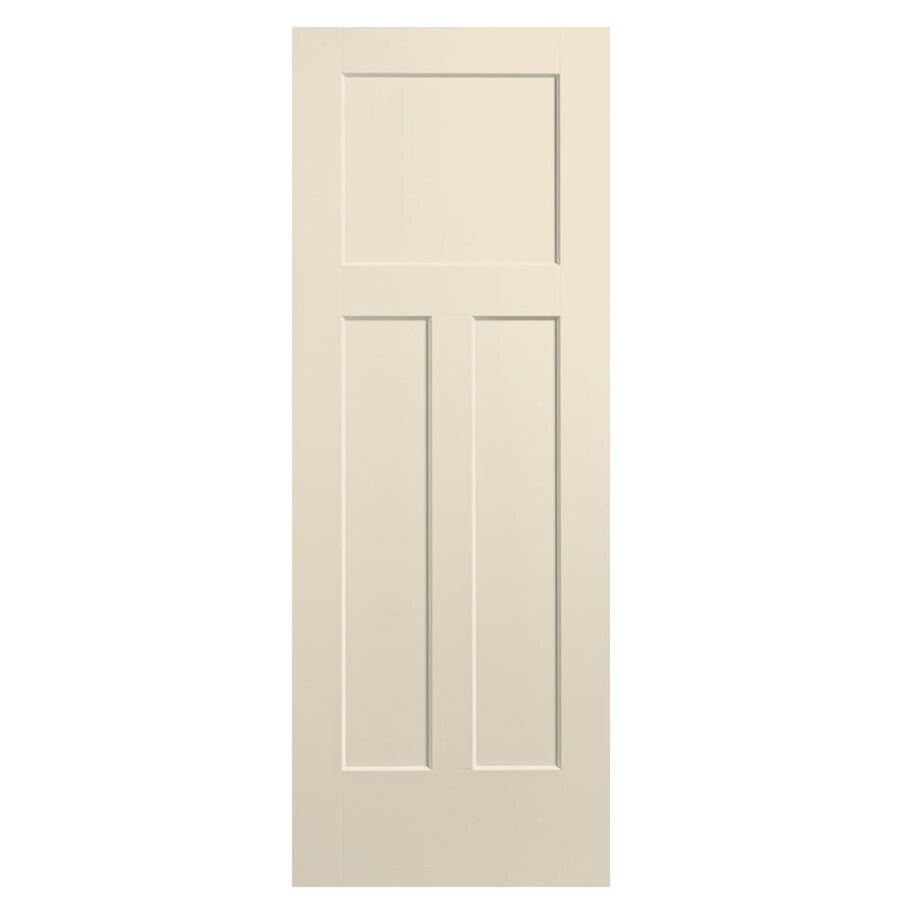 Masonite Expo Cream-N-Sugar Hollow Core 3-Panel Craftsman Slab Interior Door (Common: 24-in x 80-in; Actual: 25.5-in x 81.5-in)