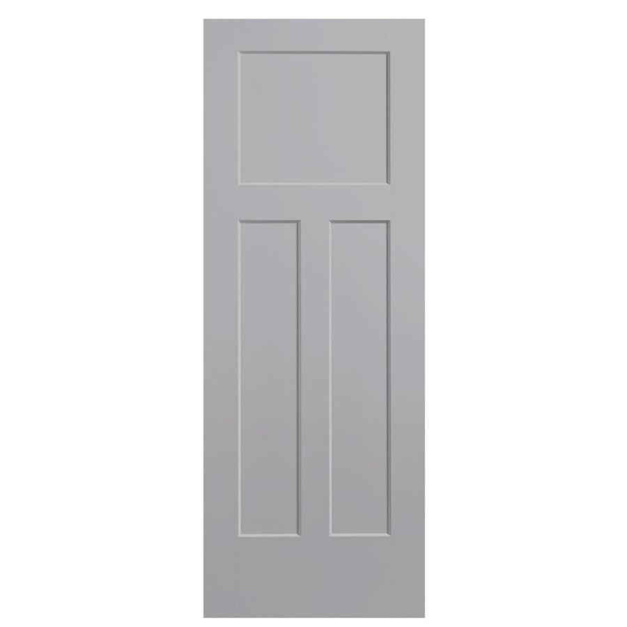 Masonite Expo Driftwood Hollow Core 3-Panel Craftsman Slab Interior Door (Common: 28-in x 80-in; Actual: 29.5-in x 81.5-in)