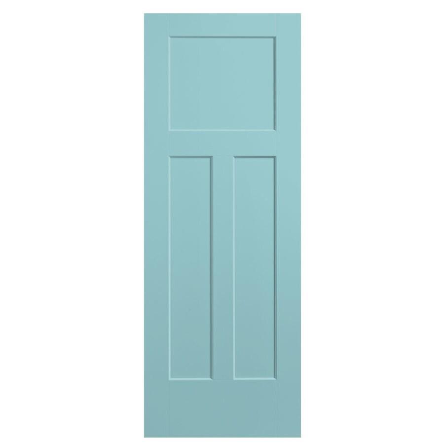 Masonite Expo Sea Mist Hollow Core 3-Panel Craftsman Slab Interior Door (Common: 32-in x 80-in; Actual: 33.5-in x 81.5-in)