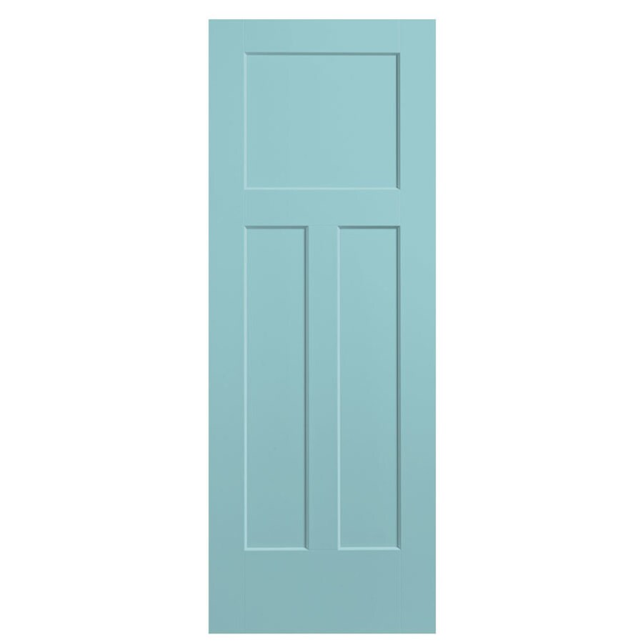 Masonite Expo Sea Mist Hollow Core 3-Panel Craftsman Slab Interior Door (Common: 36-in x 80-in; Actual: 37.5-in x 81.5-in)