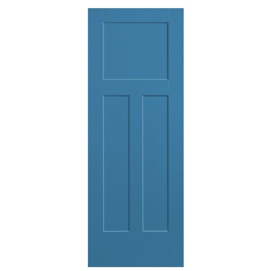 Masonite Expo Blue Heron Hollow Core 3-Panel Craftsman Slab Interior Door (Common: 36-in x 80-in; Actual: 37.5-in x 81.5-in)
