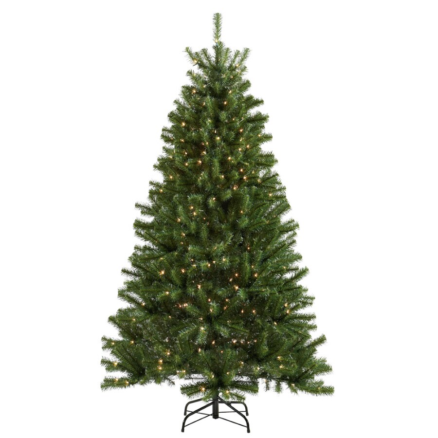 Holiday Living 6-1/2-ft Spruce Pre-lit Artificial Christmas Tree with 400-Count Clear Lights