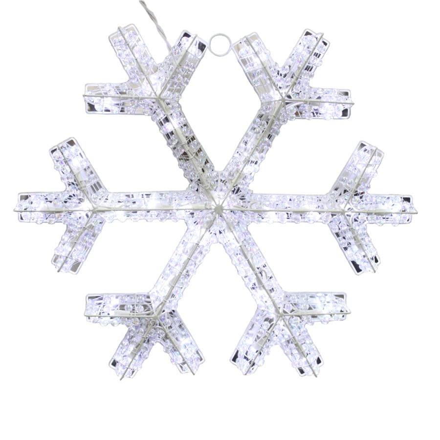 Holiday Living Pre-Lit Metal Hanging Snowflake with Twinkling White LED Lights