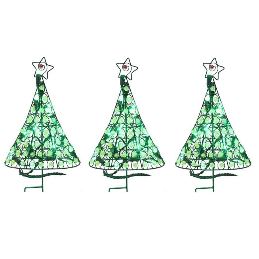 Shop Holiday Living 40 Count LED Mini Green Christmas