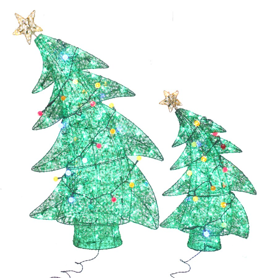 Holiday Living 2-Pack 4-ft Twinkling Christmas Trees