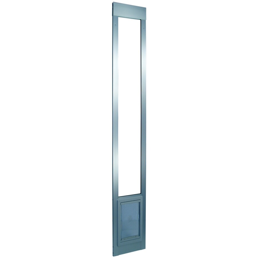 Ideal Pet Products Medium Silver Aluminum Sliding Pet Door (Actual: 11.25-in x 7-in)
