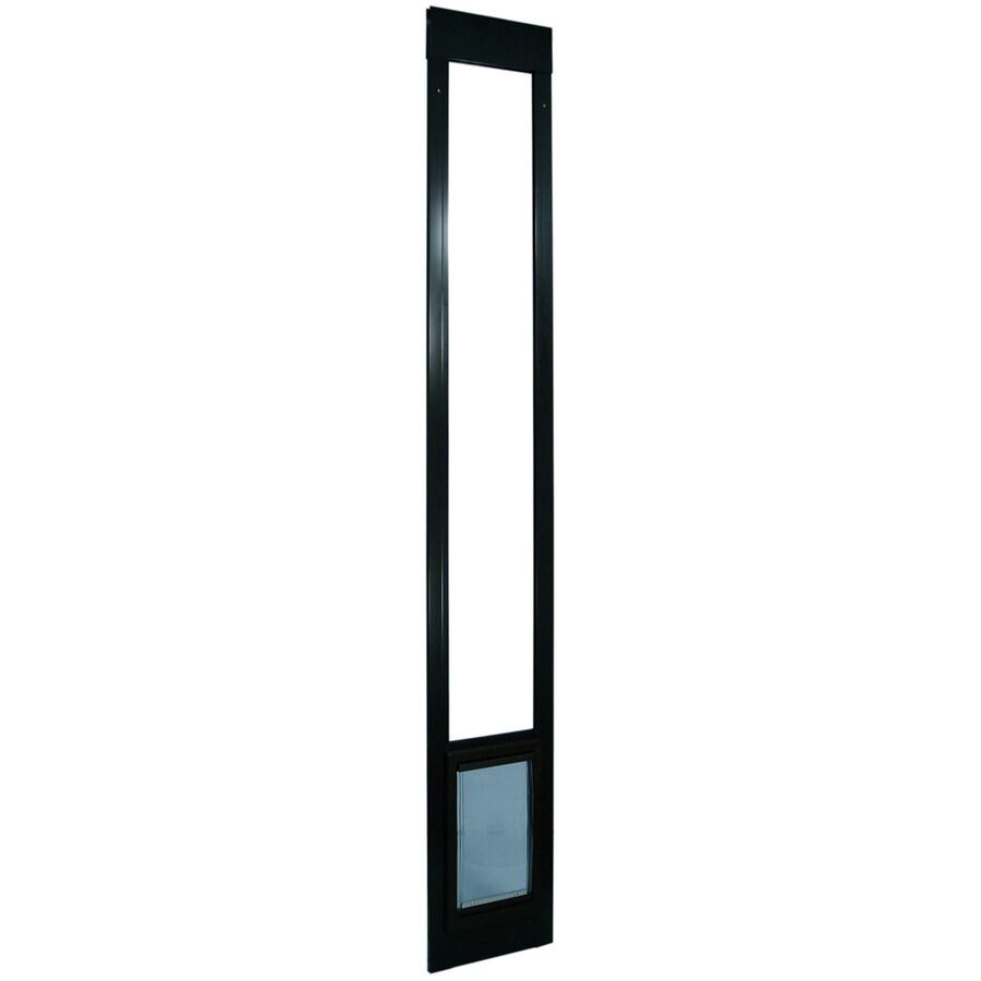 Small Bronze Aluminum Sliding Pet Door (Actual: 7-in x 5-in)