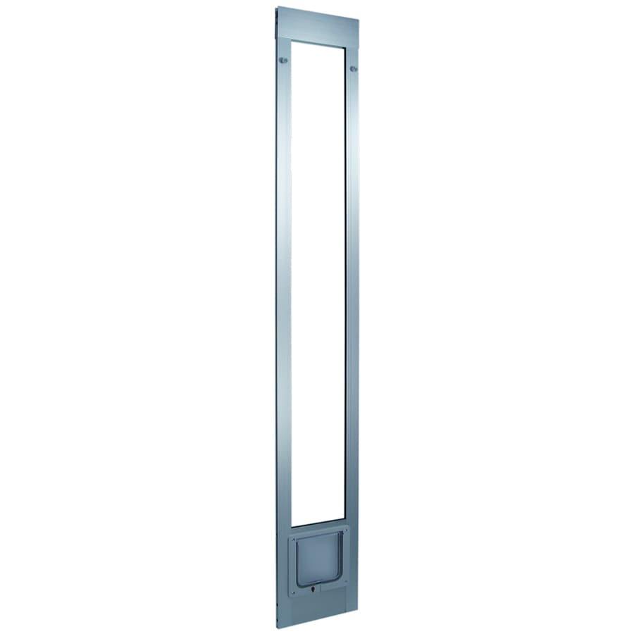 Small Silver Aluminum Sliding Pet Door (Actual: 6.25-in x 6.25-in)