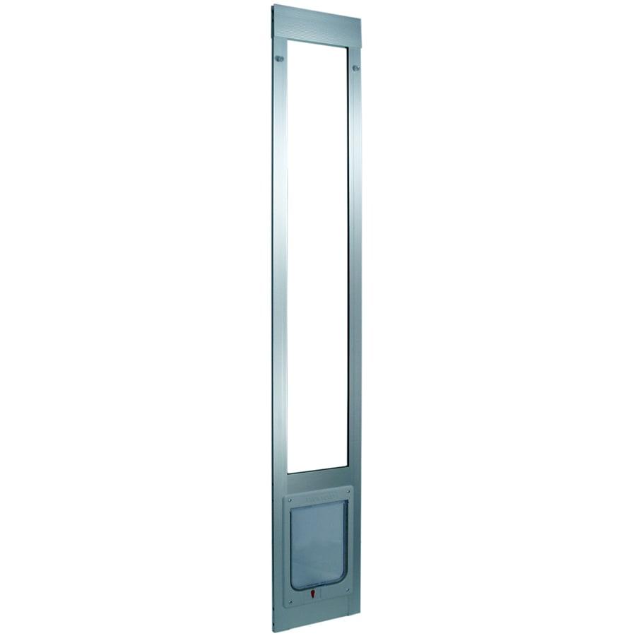 shop medium silver aluminum sliding pet door actual 10 5