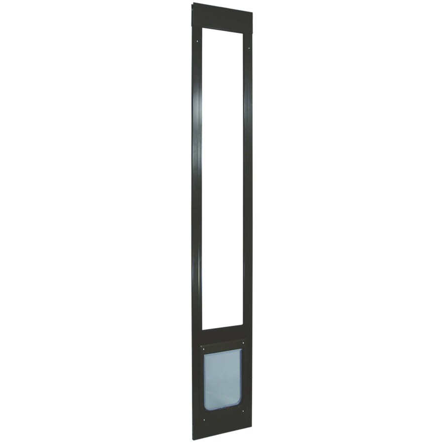 Medium Bronze Aluminum Sliding Pet Door (Actual: 10.5-in x 7.5-in)
