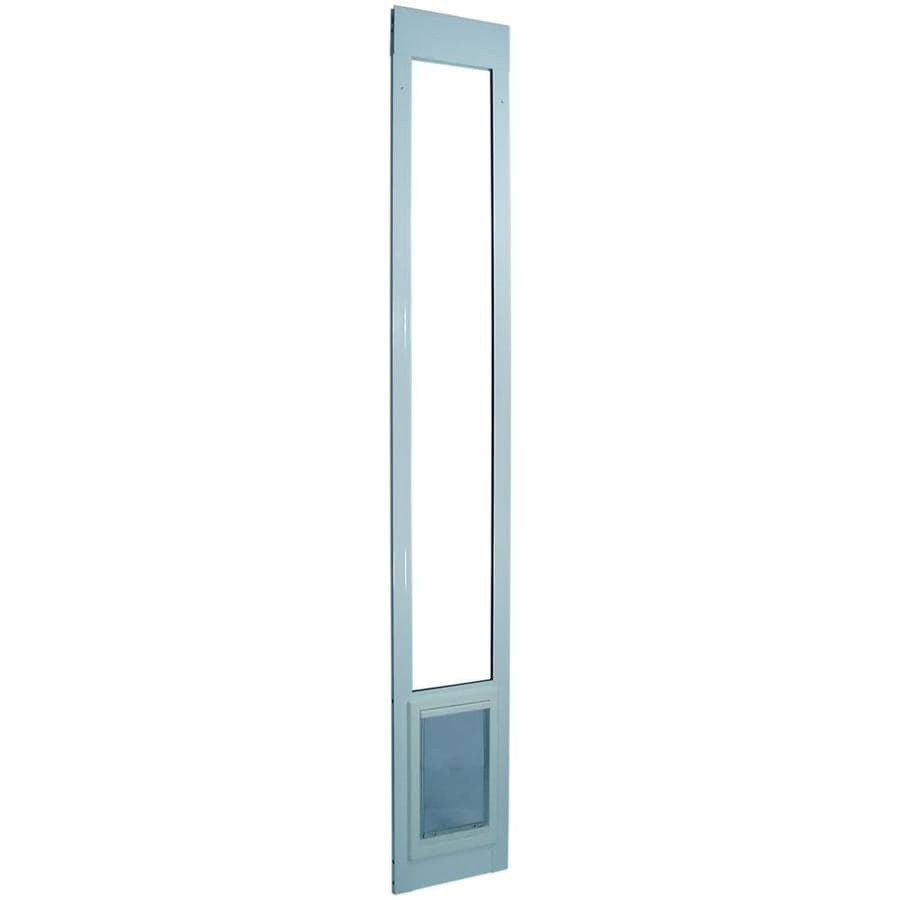 Small White Aluminum Sliding Pet Door (Actual: 7-in x 5-in)