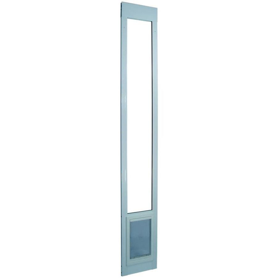 Medium White Aluminum Sliding Door Pet Door (Actual: 11.25-in x 7-in)