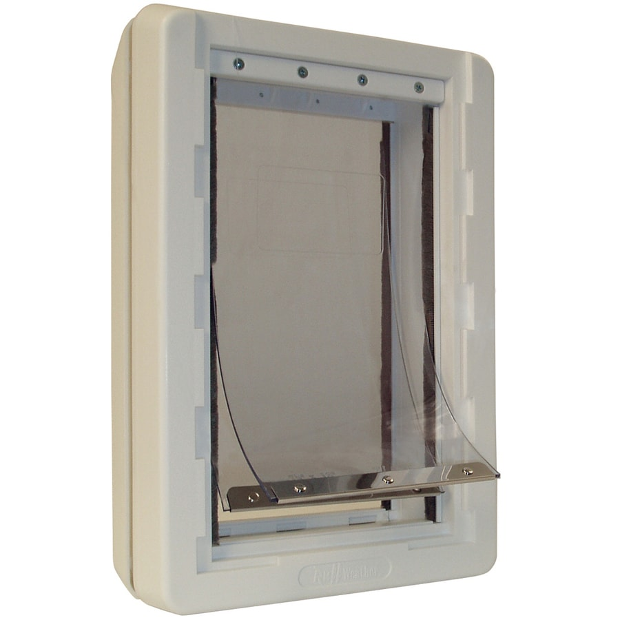Ideal Pet Products Small White Plastic Wall Pet Door