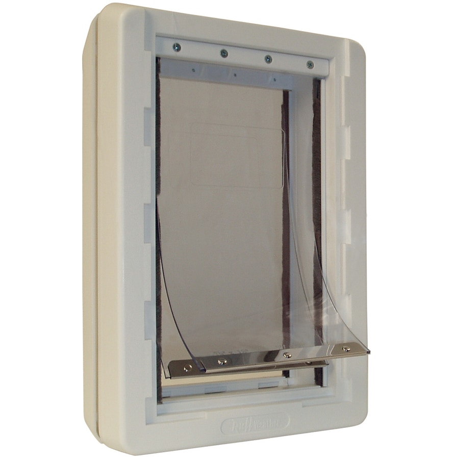 Ideal Pet Products Medium Cream Plastic Pet Door (Actual: 13-in x 7.25-in)