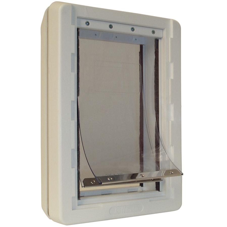 X-Large Cream Plastic Pet Door (Actual: 23.5-in x 15-in)