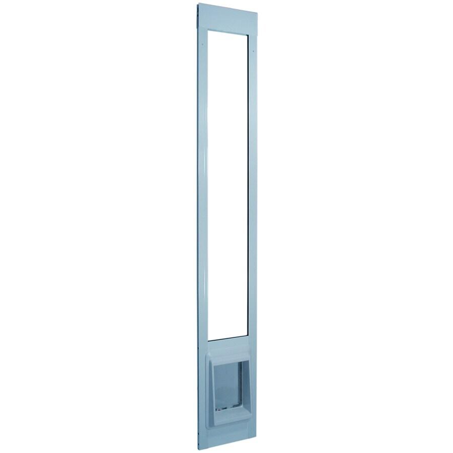 Small White Aluminum Sliding Pet Door (Actual: 6.25-in x 6.25-in)