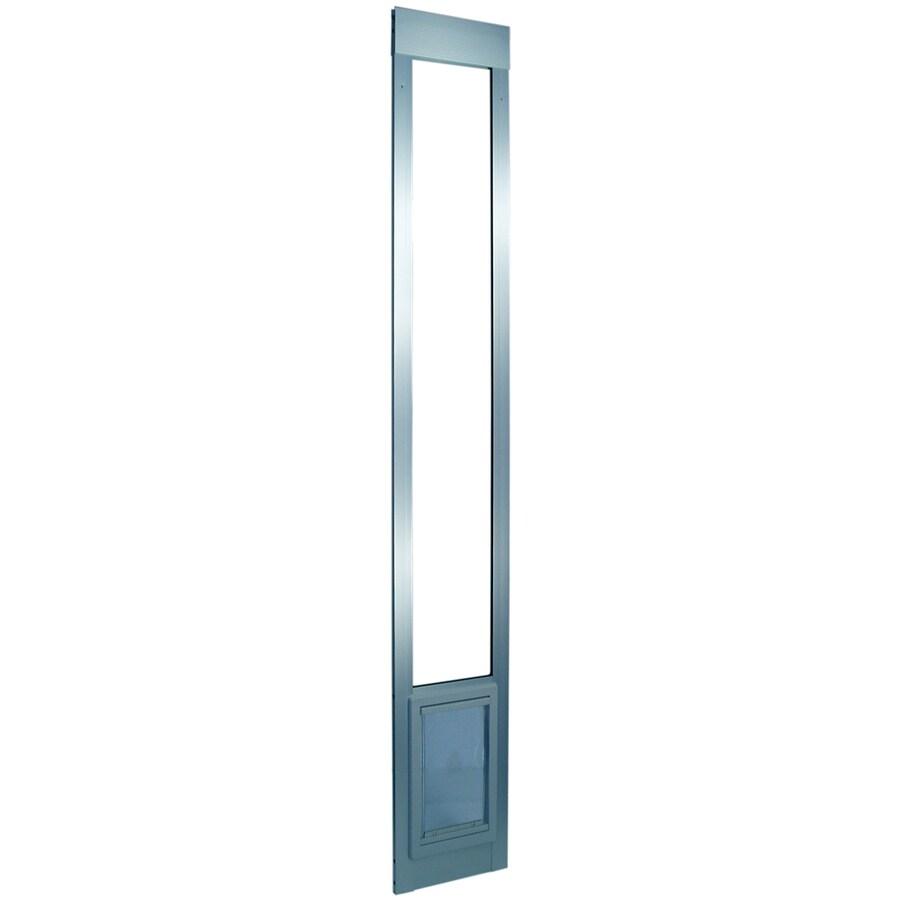X-Large Silver Aluminum Sliding Pet Door (Actual: 20-in x 15-in)