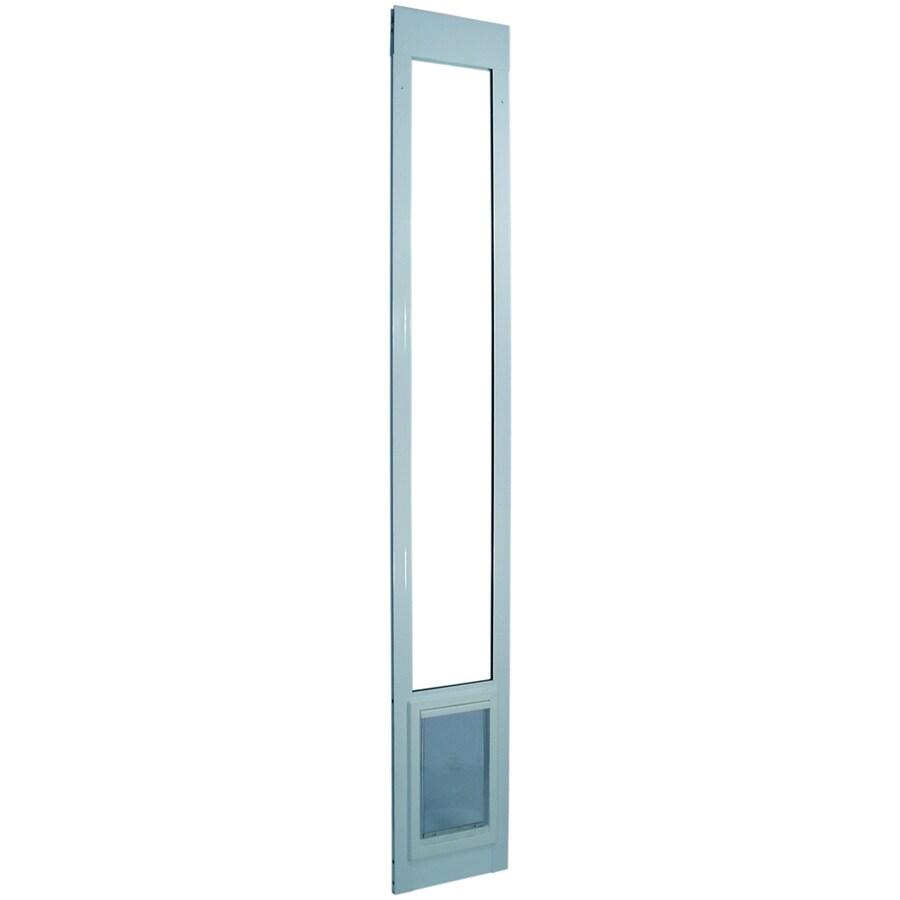 X-Large White Aluminum Sliding Pet Door (Actual: 20-in x 15-in)
