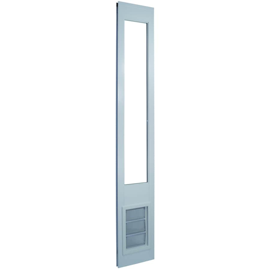 Medium White Vinyl Sliding Pet Door (Actual: 11.25-in x 6.625-in)