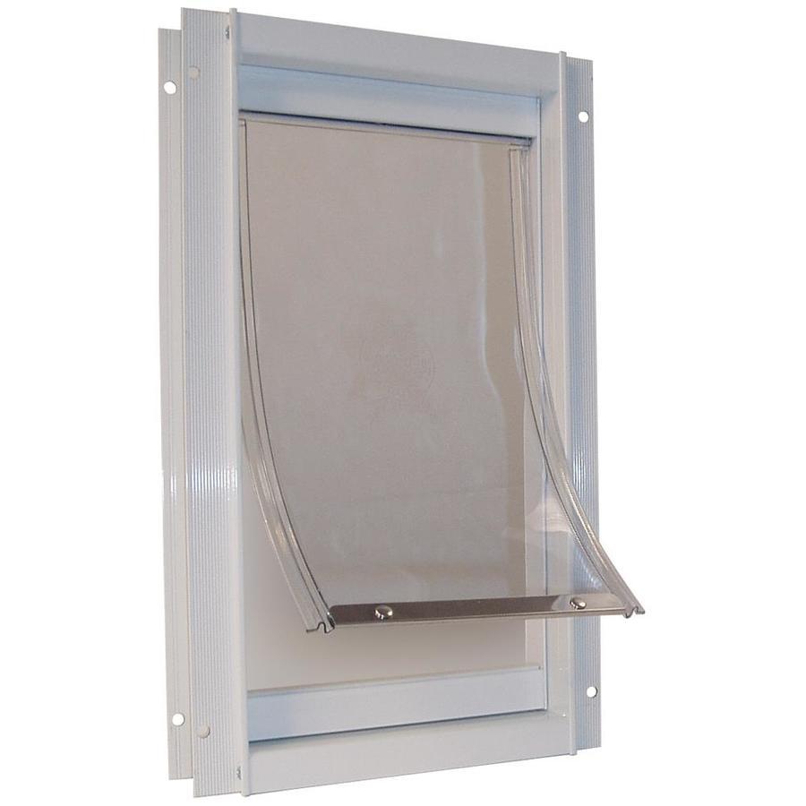 Ideal Pet Products Medium White Aluminum Wall Pet Door (Actual: 11.25-in x 7-in)