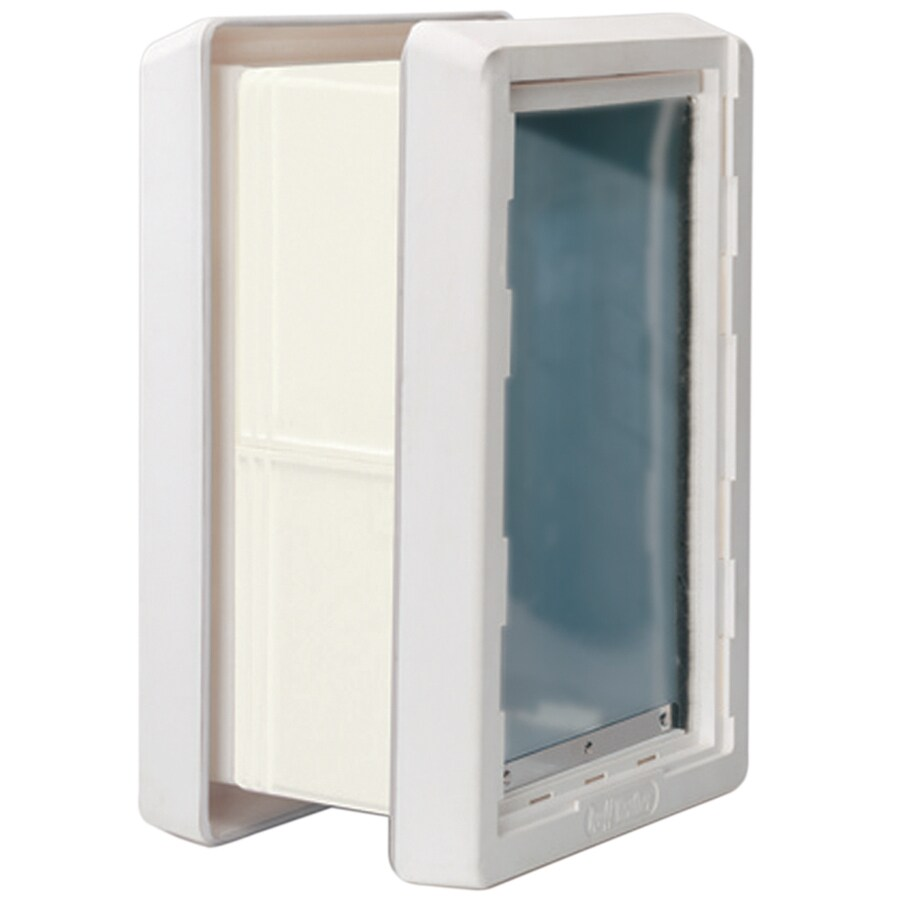 Ideal Pet Products Medium Cream Plastic Wall Pet Door (Actual: 13-in x 7.25-in)