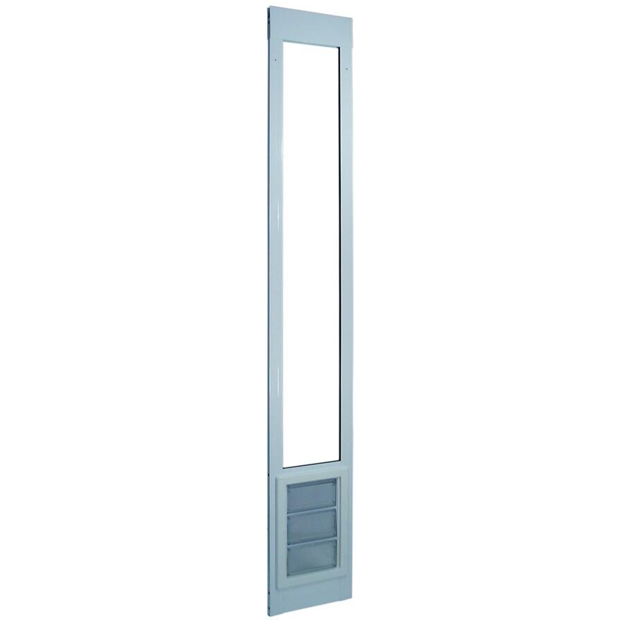 Large White Aluminum Sliding Pet Door (Actual: 11.25-in x 6.625-in)