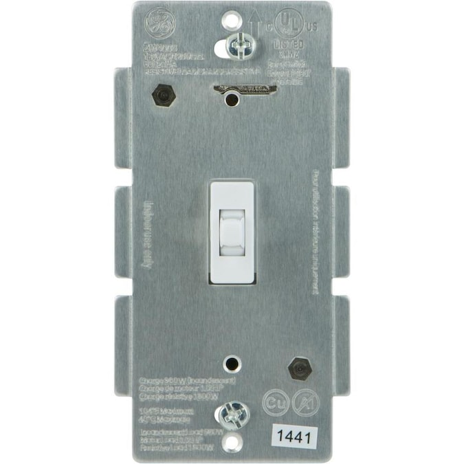 Ge Z Wave Plus 3 Way White Smart With Led Toggle Light