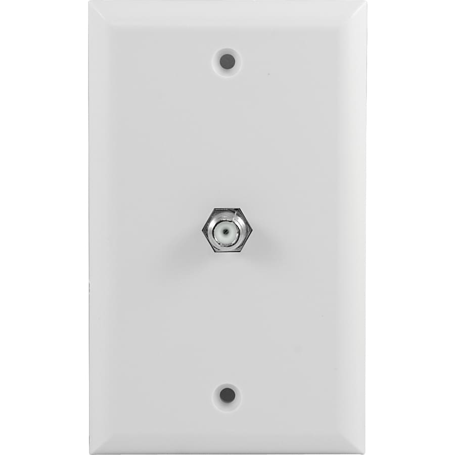 GE Plastic F-Connector Wall Jack