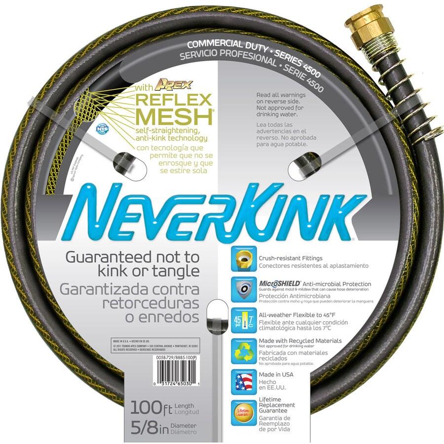 NeverKink 5/8-in x 100-ft Premium-Duty Kink Free Garden Hose