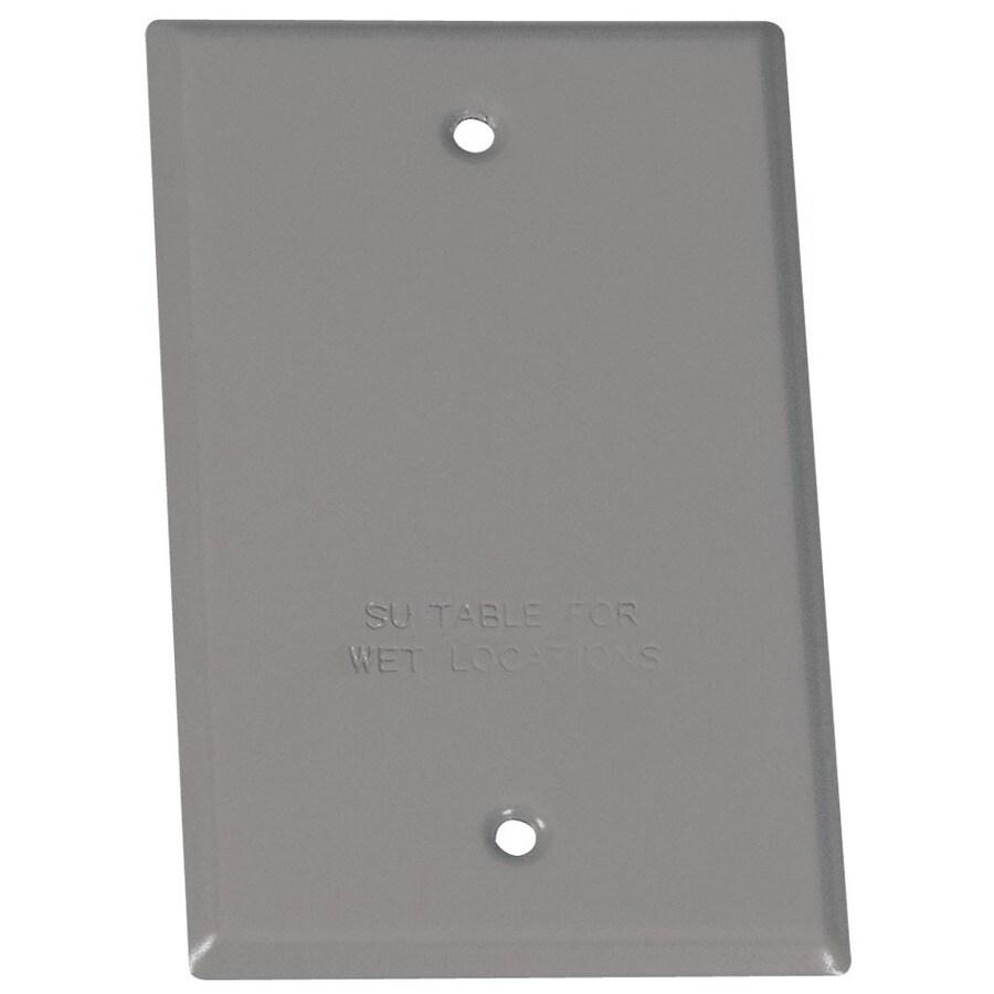 1-Gang Rectangle Metal Weatherproof Electrical Box Cover
