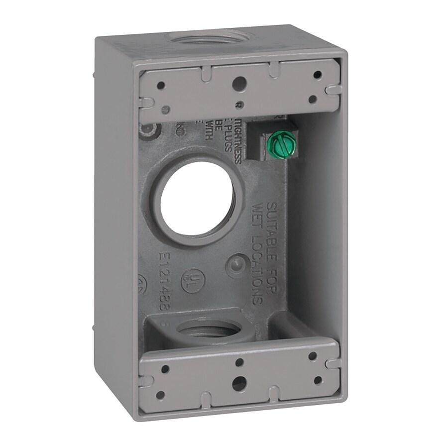 Gampak 18-cu in 1-Gang Metal Square Weather Resistant Wall Electrical Box