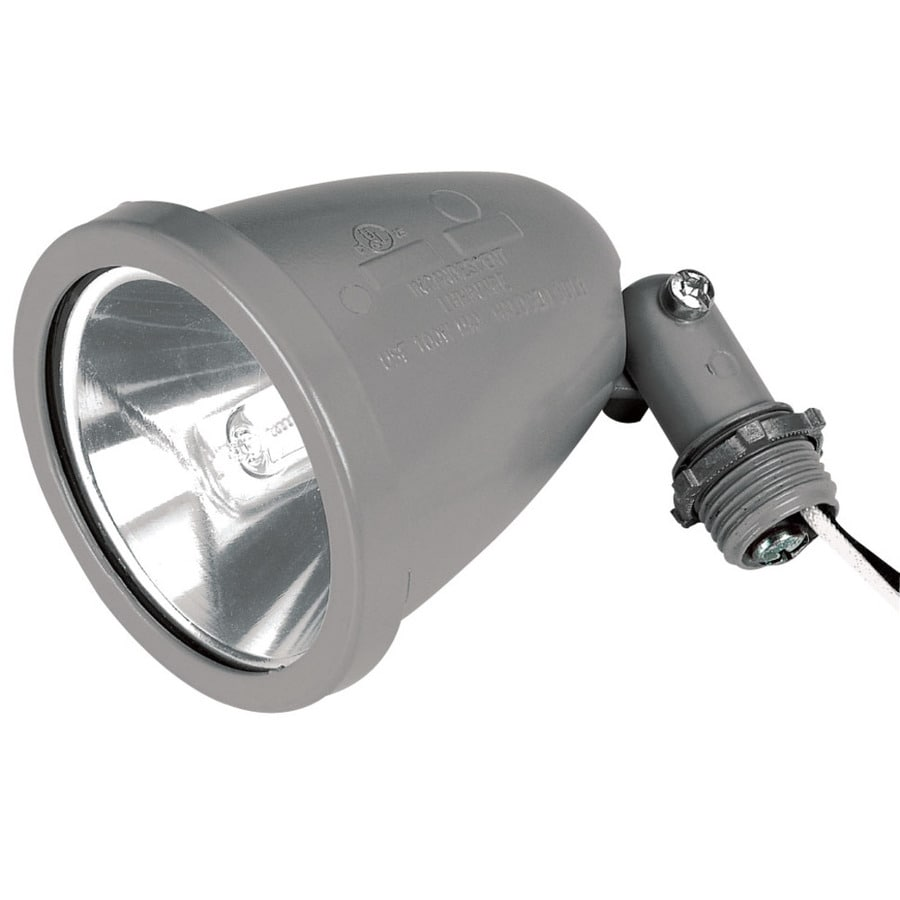 3.5-in 1-Head Halogen Gray Switch-Controlled Flood Light