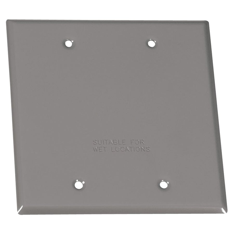 Gampak 2-Gang Square Metal Weatherproof Electrical Box Cover