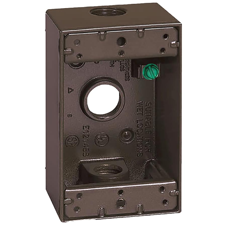 Gampak 18-cu in 1-Gang Metal Square Weather Resistant Wall Electrical Box