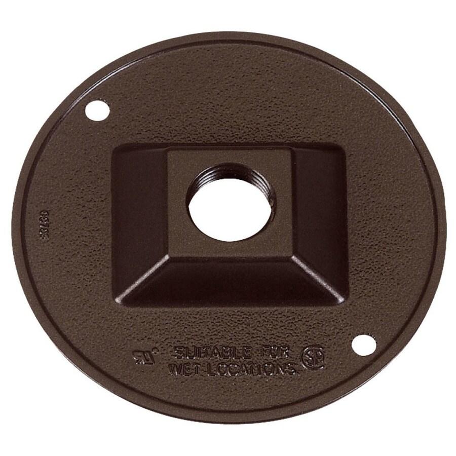 Gampak Round Metal Weatherproof Electrical Box Cover