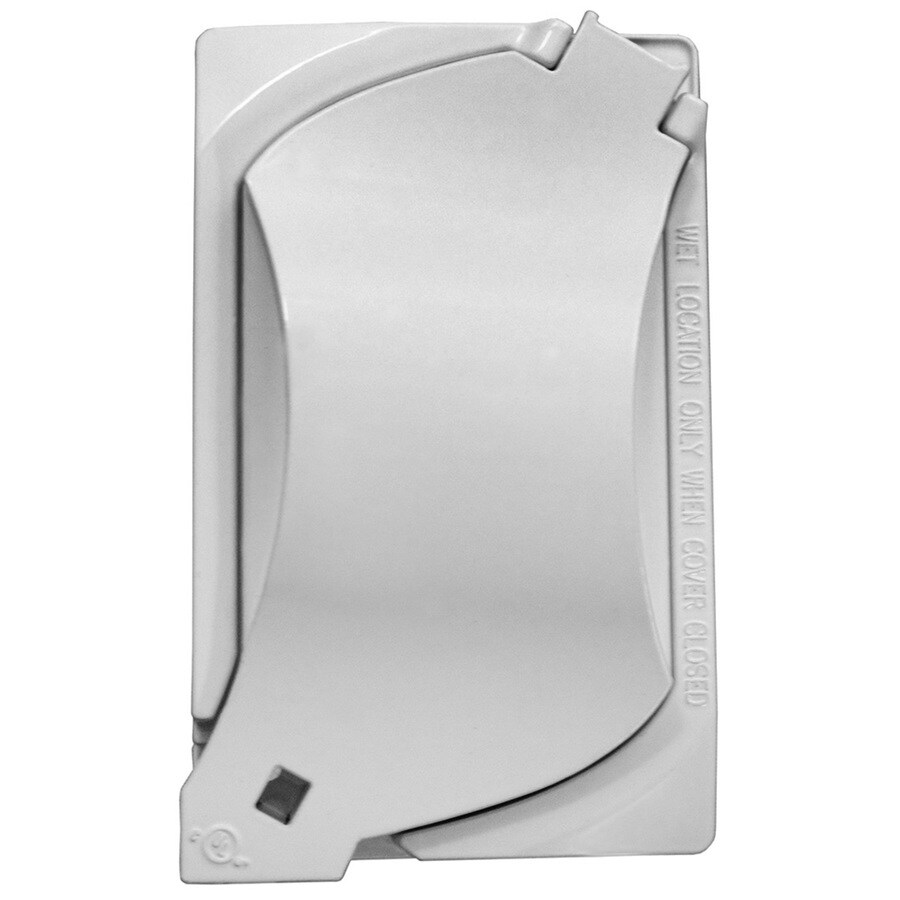 Gampak Metallic White 1-Outlet Weatherproof Electrical Outlet Cover