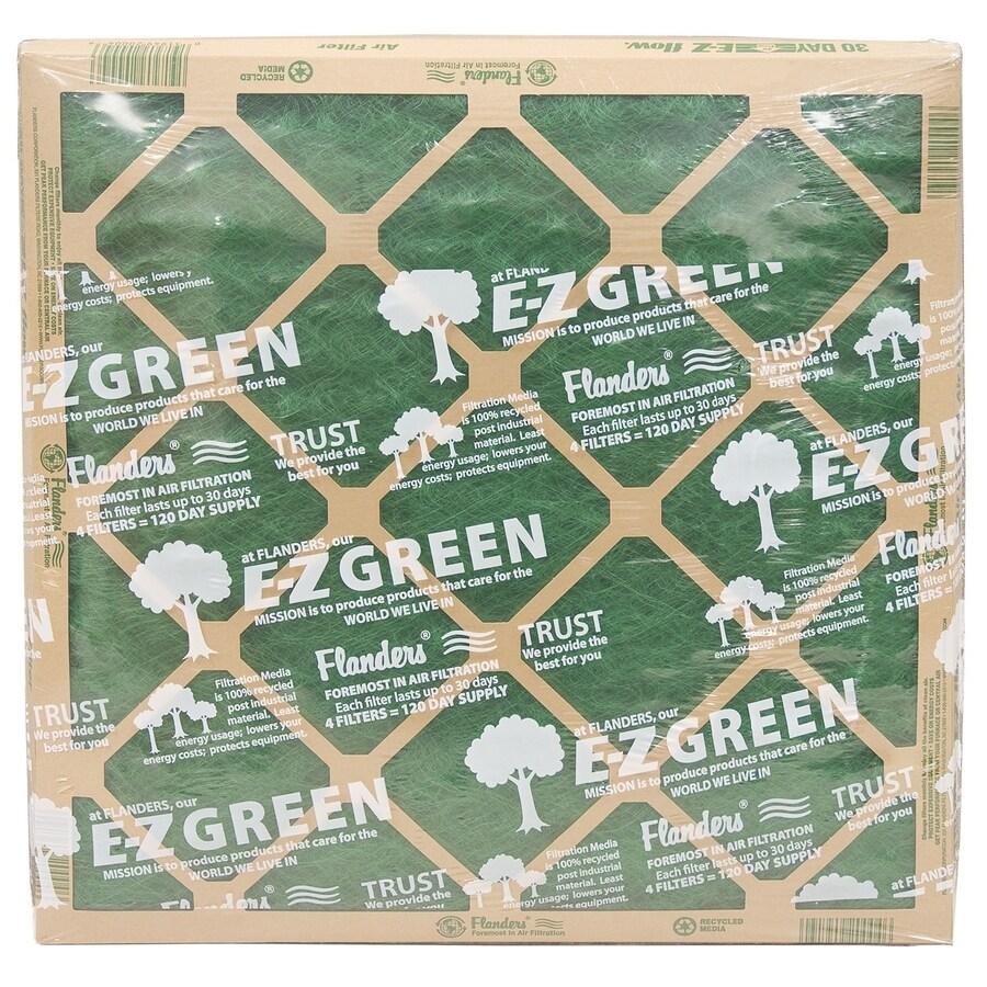 EZ Flow 4-Pack 16-in x 25-in x 1-in Fiberglass Air Filters