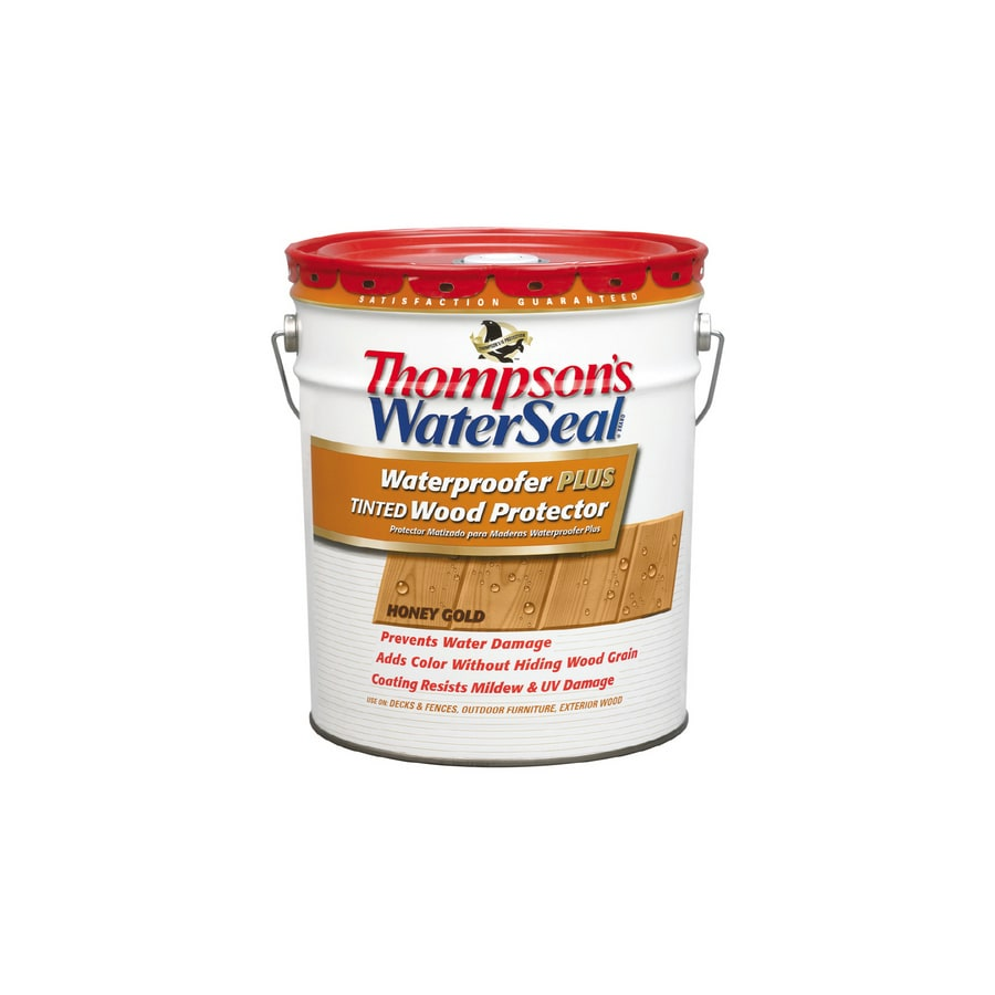 Thompson's WaterSeal Waterproofer Plus Tinted Wood Protector - Low Voc - Sheer Honey Gold