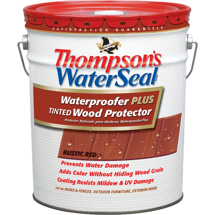 Thompson's WaterSeal Waterproofer Plus Tinted Wood Protector Rustic Red