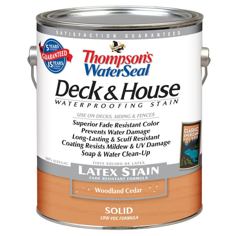 Thompson's WaterSeal 1-Gallon Woodland Cedar Solid Exterior Stain