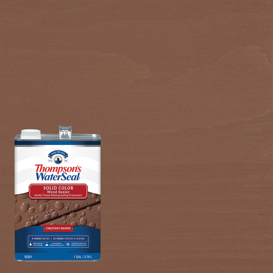 Thompson's WaterSeal Signature Pre-Tinted Autumn Brown Solid Exterior Stain (Actual Net Contents: 128-fl oz)